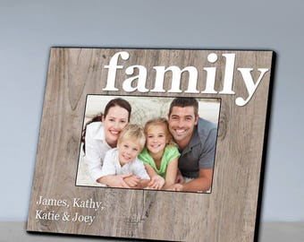 Personalized Our Family Picture Frame - Family Photo Frames - Our Family Picture Frames - Family Gifts - Family Memory Photo Frames
