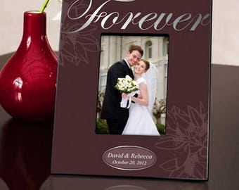 Personalized Forever Picture Frame - Wedding Photo Frames - Anniversary Picture Frames - Wedding Gifts - Personalized Wedding Photo Frames