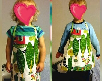 Apron for kids (upcycled fabrics)