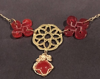 Gold With Carnelian Necklace