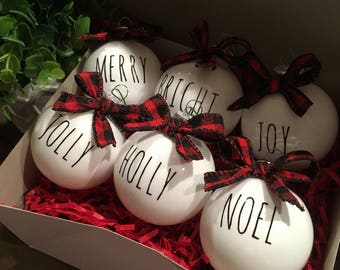 Rae Dunn Inspired PERSONALIZED SINGLE ornament