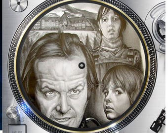 The Shining Horror 12 inch  Slipmat Turntable Vinyl decor Record collection DJ audiophile 16 ounce Slipmat x1