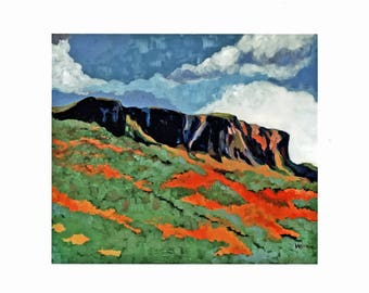 CAVE HILL Limited edition A4 giclée print