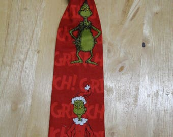 Handmade Neck Tie Red Grinch Great Christmas gift Made in America