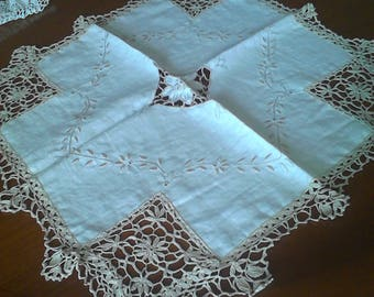 lace and embroidery doily