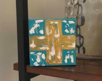 Gold block cross