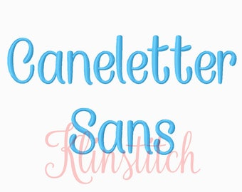 50% Sale!! Caneletter Sans Embroidery Fonts 5 Sizes Fonts BX Fonts Embroidery Designs PES Fonts Alphabets - Instant Download