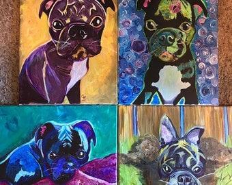 Custom Acrylic Bugg Dog Portraits