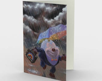 The Rainbow Salesman - greeting card