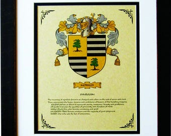 HERALDY COAT of ARMS ~ Morales Family Crest ~ Framed