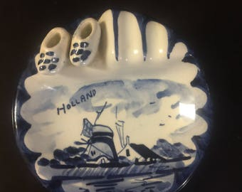 Delft Blue  Holland Hand Painted Ashtry
