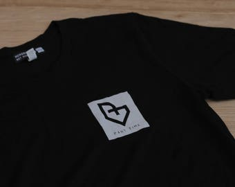 Part Time T shirt, Black, shirt sleeve, bella canvas, skate style