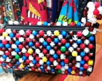 Multicolored beads wallets