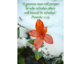 THANKFUL - Prov 11:25 - Gratitude - encouragement