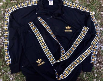 adidas tracksuit gold