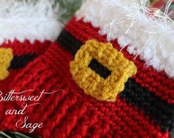 Santa Boot Cuffs, Holiday Boot Cuffs, Crocheted Boot Cuffs, Furry Boot Cuffs, Christmas Boot Cuffs, Holiday Cheer Boot Cuffs, Secret Santa