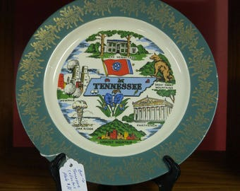 """10"""" Tennesse Collectors Plate"""