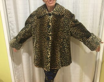 Faux cheetah coat! Very cute!