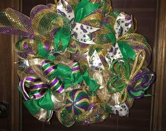 Mardi Gras Mambo wreath