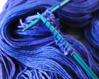 Curiosity -- Purple Haze// 75-25 wool blend yarn// Indie-dyed yarn//pantone color 2018 ultra violet yarn// knitting sock yarn shops//