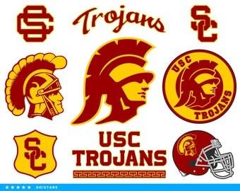 Trojans svg – USC svg – Trojans clipart – South California svg – California Trojans svg – raster vector files – svg pdf png dxf eps