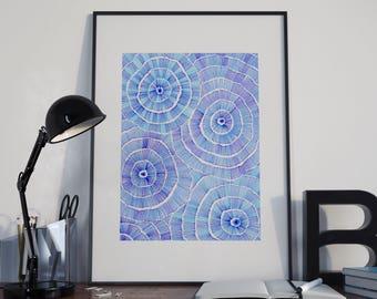 Affiche / illustration / Blue obsession