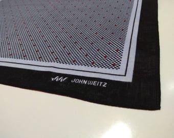 Vintage John Weitz handkerchief pocketsquares