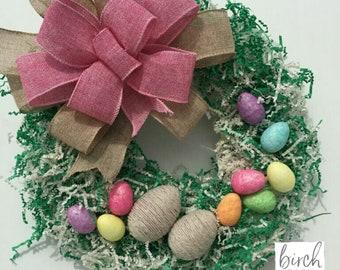 Easter Grass Wreath