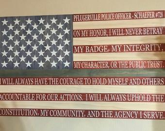 Saying Hero Flag