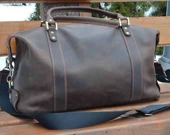 Brown Vintage Bag Sport Bag Cabin Baggage Leather Handmade Travel Bag Leather Business Bag Leather satchel bag Leather Weeekender