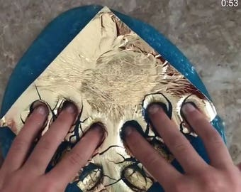 Gold leafing for slime , non edible,  DIY, 100 sheets!