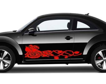Flower Decals For Cars Auto Hobby - Custom vinyl decals for car hoodscustom hood decals etsy