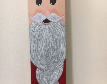 Homemade Wooden Santa Picket