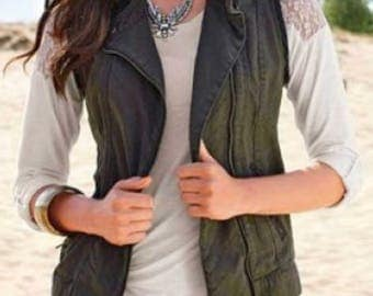 Vest in Army Style