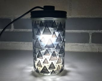 My graphic jar lamp