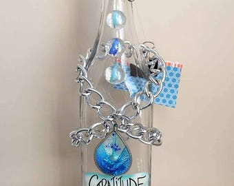 Gratitude Jar with Upcycled Jewelry - Good Fortune