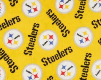 NFL Fleece Pittsburgh Steelers Fleece Blanket, Fleece Blanket, Tie Knot Blanket