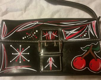 Pinstriped Purse