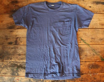 Vintage Pocket T-Shirt | Size Small Medium | made in USA | Soft