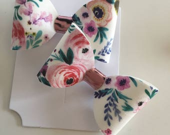 Individual handmade floral bow