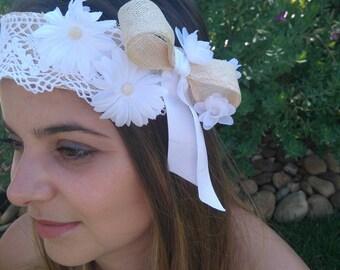 "Headband for bride - model ""Marguarida"""