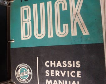 1059 Buick chassis service manual in a buick binder