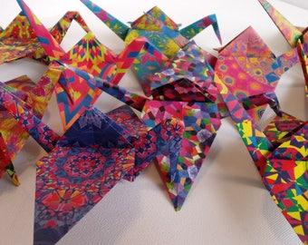 100 Kaleidoscope Origami Cranes