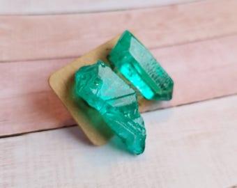 Emerald Colored Rock Quartz #37