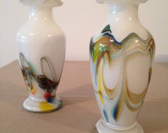 Pair Murano glass vase