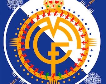 FOOTMADRID, Digital art, Digital Art, icon, print, Illustration, frame for frame, decorative frame, gift
