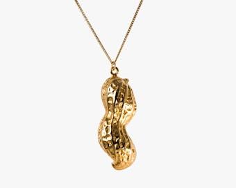 Gold Monkey Nut Necklace