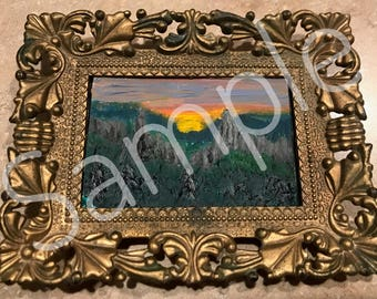 Framed Mini Landscape Painting