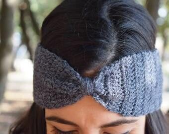 Bow headband - Grey