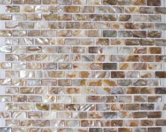 Subway Seashell pearl mosaic MOP035 Brick Mother of pearl kitchen backsplash tile shower wall tiles bathroom